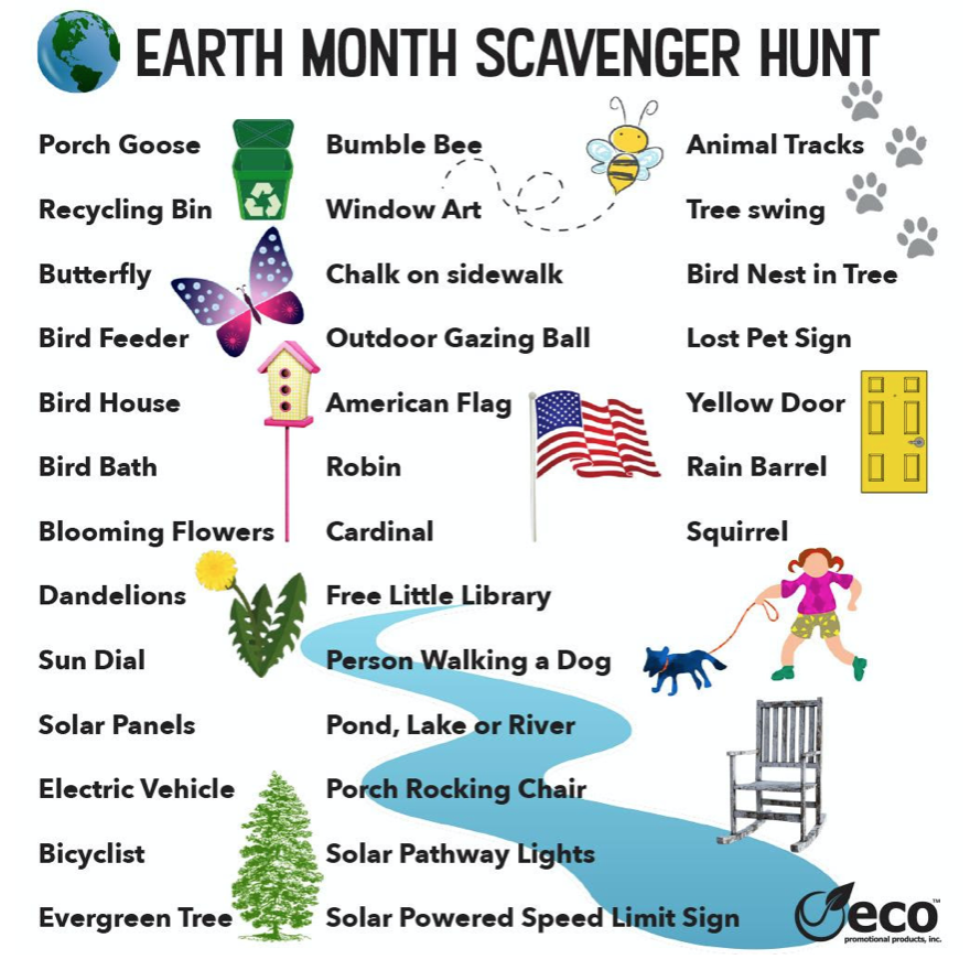 Earth Month Scavenger Hunt from Eco Promotional Products